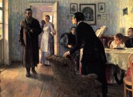 "Ilya Repin's ""They did not expect him"""